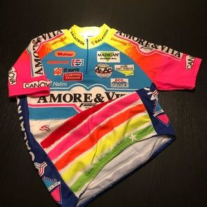 Vintage Amore & Vita Cycling Jersey colorful MED